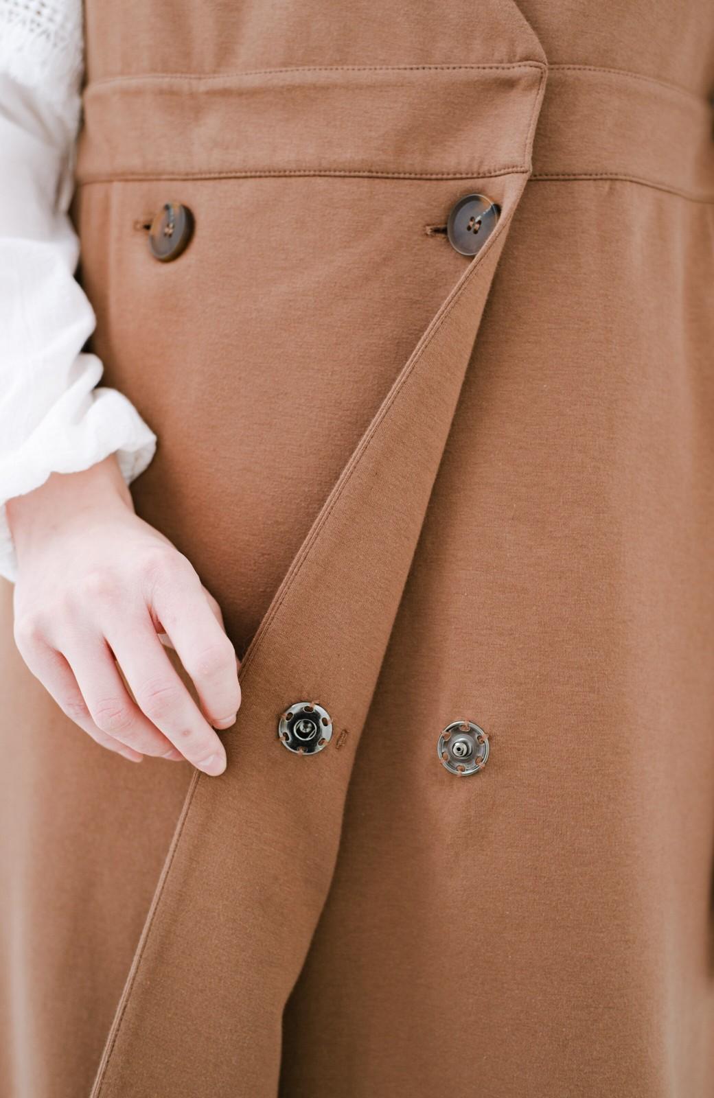 haco! 【ブラック残りわずか!】頑張りすぎずにちゃんとかわいい カットソージャンパースカート <ライトブラウン>の商品写真8