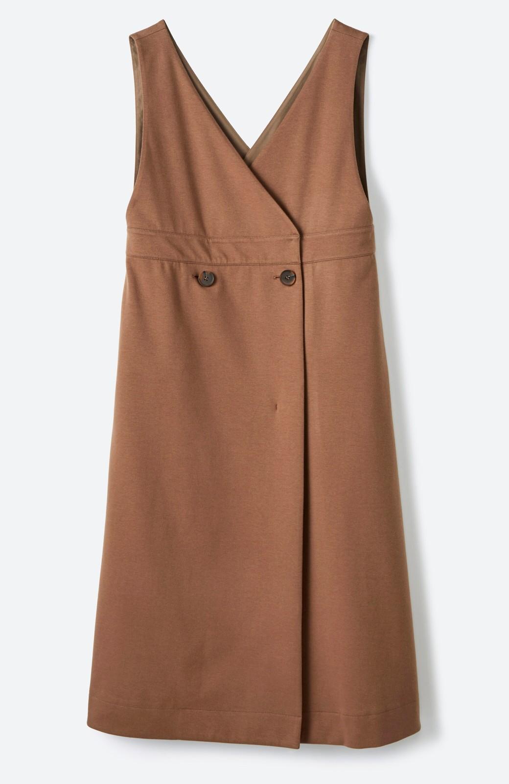 haco! 【ブラック残りわずか!】頑張りすぎずにちゃんとかわいい カットソージャンパースカート <ライトブラウン>の商品写真4