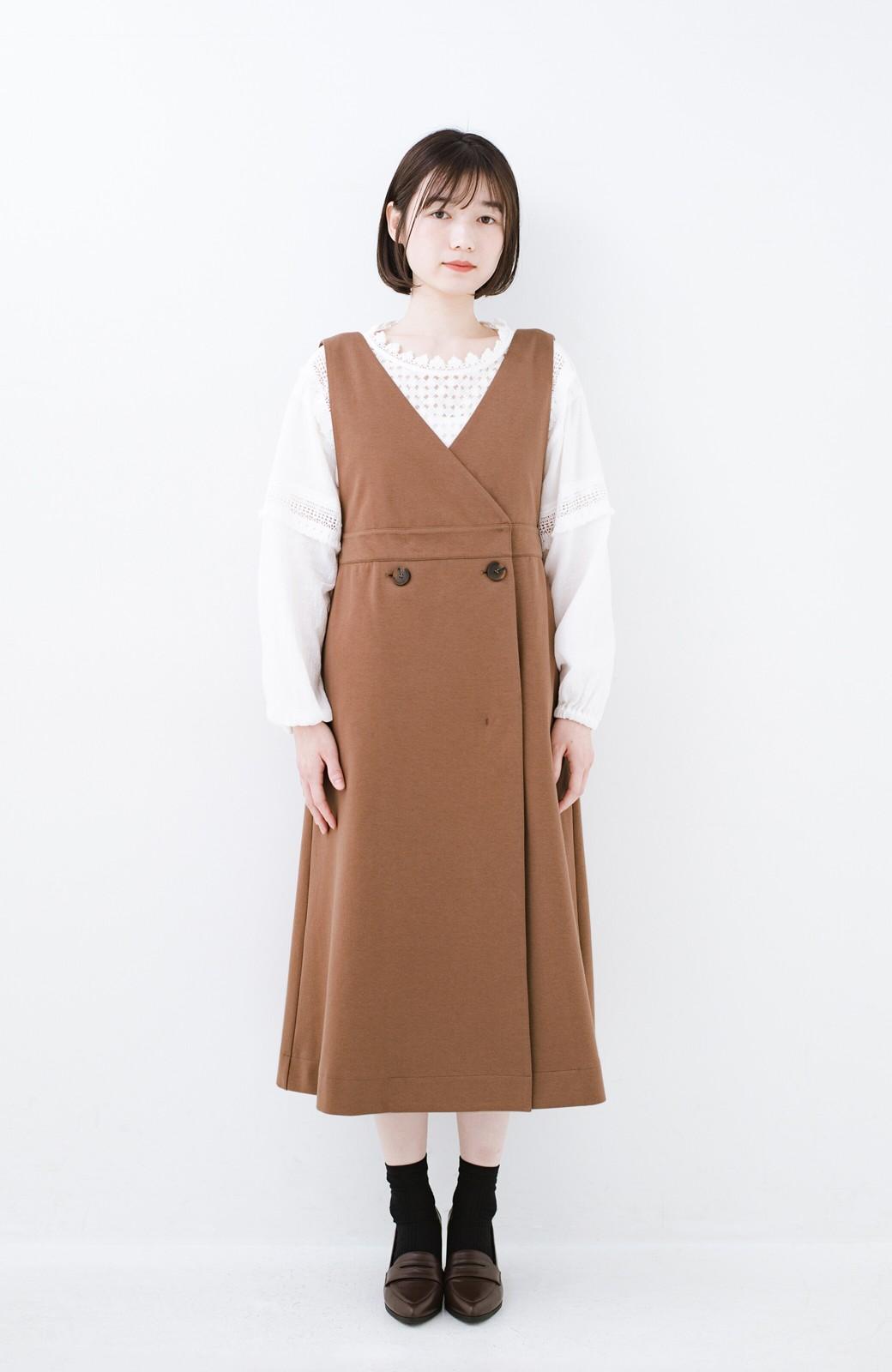haco! 頑張りすぎずにちゃんとかわいい カットソージャンパースカート <ライトブラウン>の商品写真11
