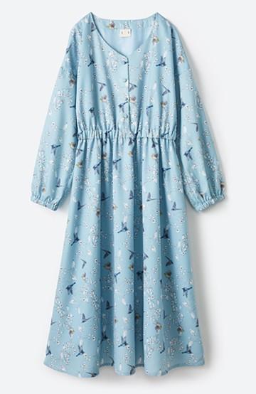 haco! 〈KANA MATSUNAMIテキスタイル〉思い出づくりに一役買う とっておき華やぎワンピース <ブルー系その他>の商品写真