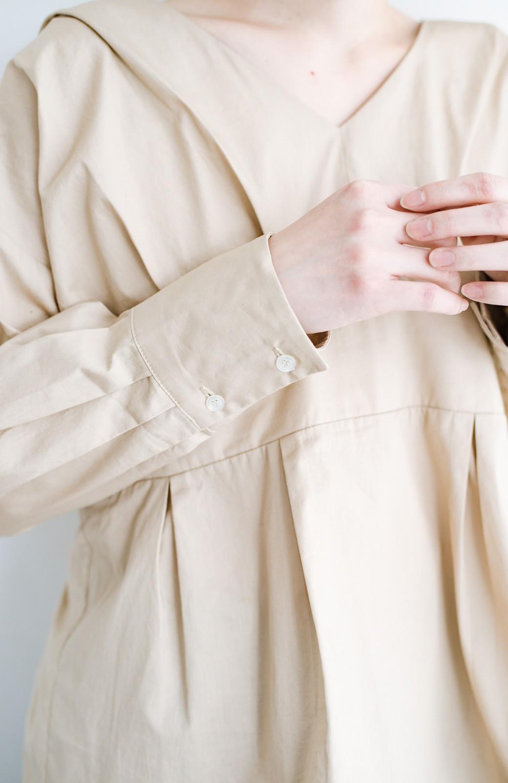 haco! パッと着るだけで今っぽ&女っぽが叶う プルオーバーブラウス <ベージュ>の商品写真6