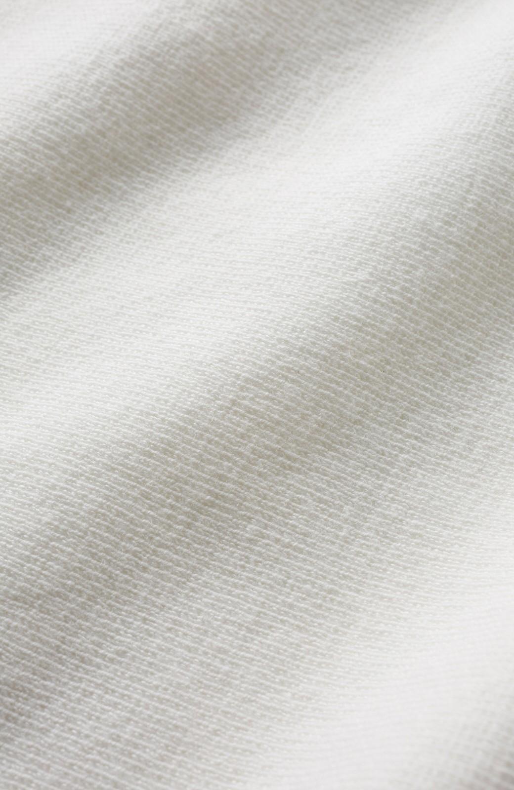 haco! 長ーーい季節着られてきちんとみせてくれる 便利なミラノリブニット <ホワイト>の商品写真3