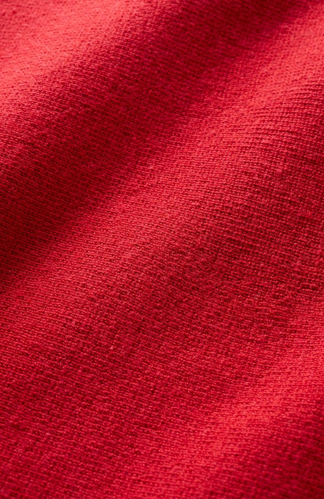 haco! 長ーーい季節着られてきちんとみせてくれる 便利なミラノリブニット <レッド>の商品写真3
