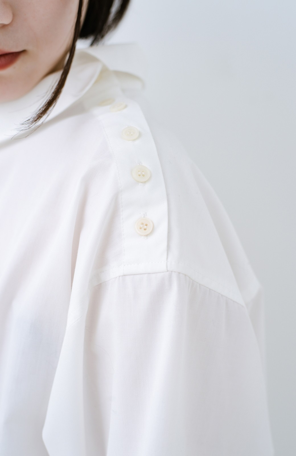 haco! 凛とした気分になる ロールネックシャツ <ホワイト>の商品写真3