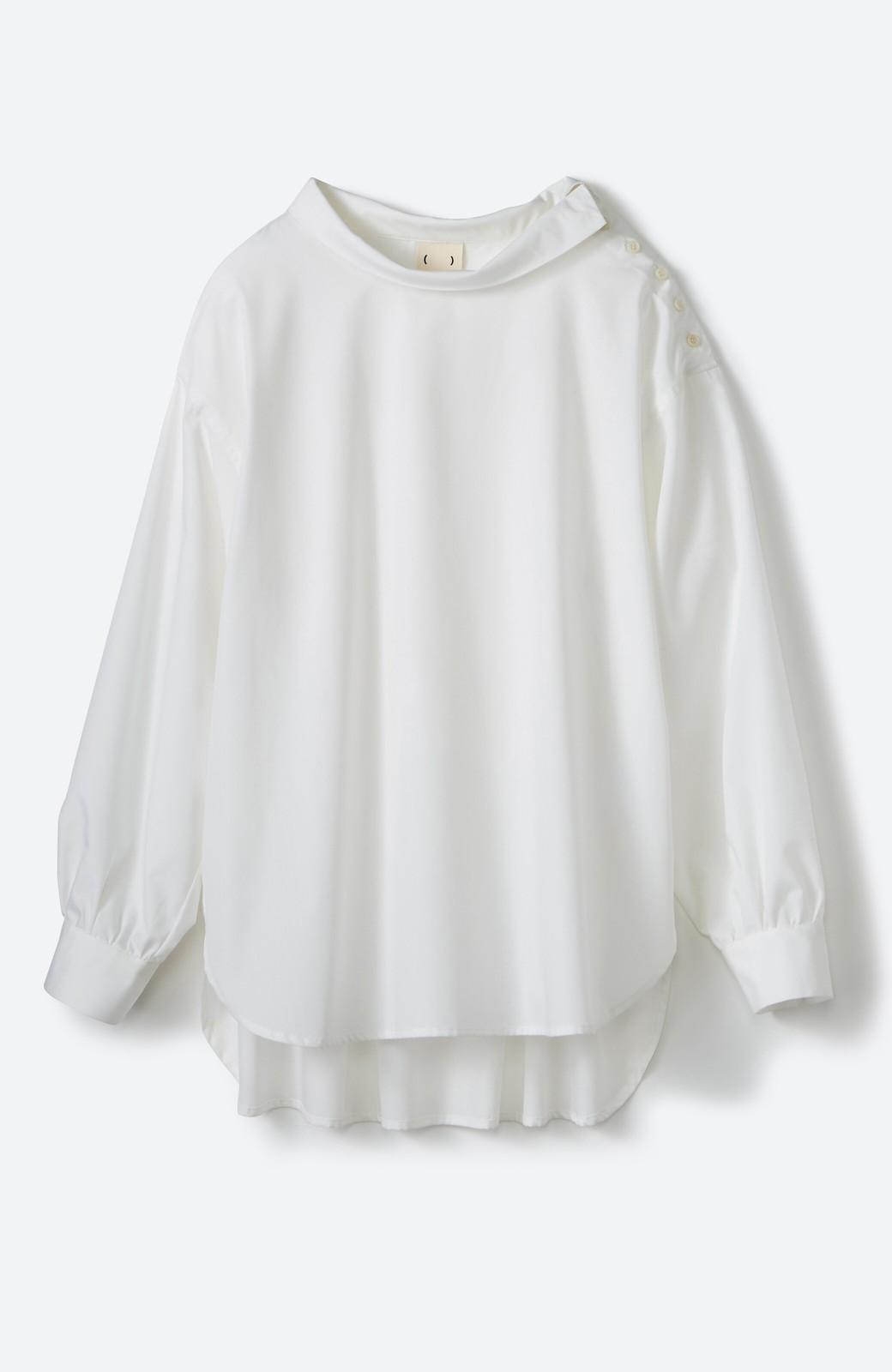 haco! 凛とした気分になる ロールネックシャツ <ホワイト>の商品写真2