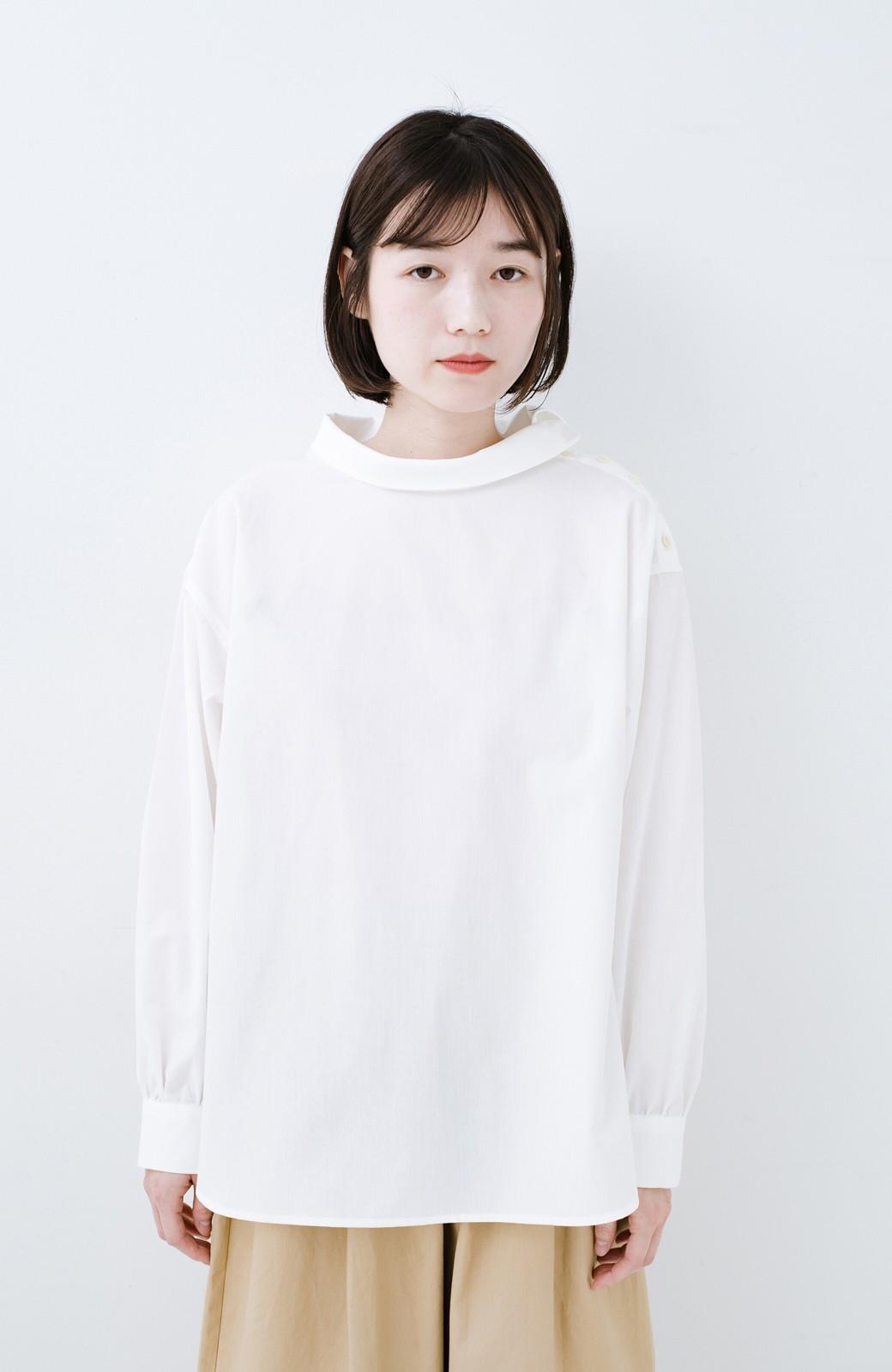 haco! 凛とした気分になる ロールネックシャツ <ホワイト>の商品写真7