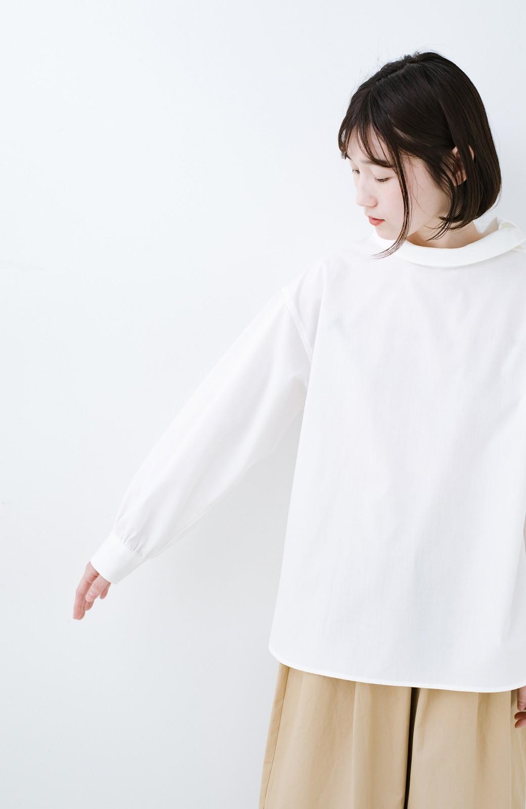 haco! 凛とした気分になる ロールネックシャツ <ホワイト>の商品写真8