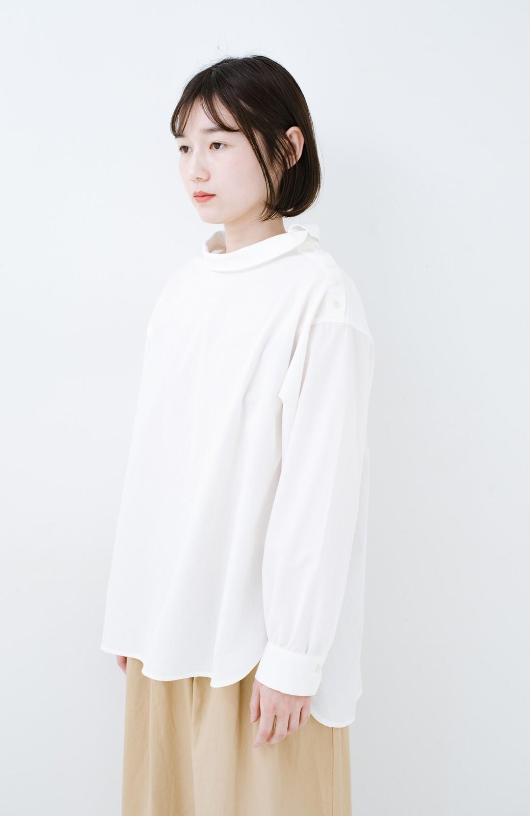 haco! 凛とした気分になる ロールネックシャツ <ホワイト>の商品写真9