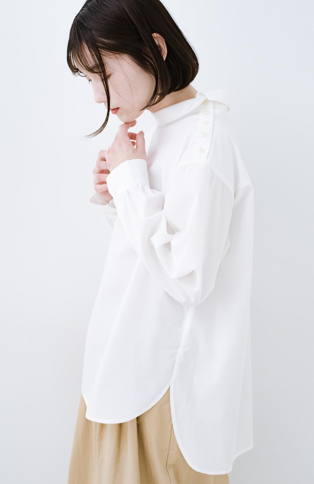 haco! 凛とした気分になる ロールネックシャツ <ホワイト>の商品写真10