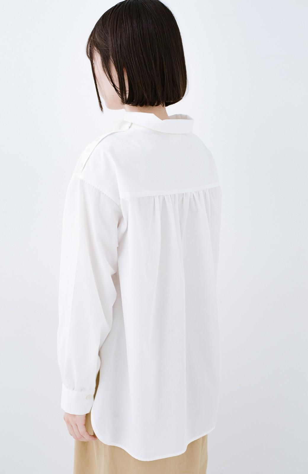 haco! 凛とした気分になる ロールネックシャツ <ホワイト>の商品写真11