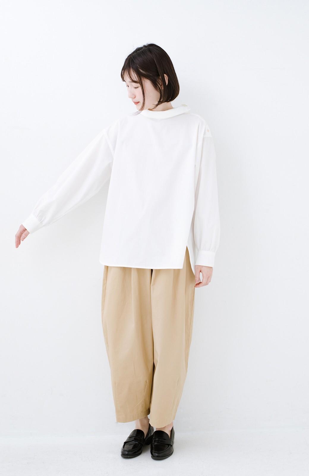 haco! 凛とした気分になる ロールネックシャツ <ホワイト>の商品写真6