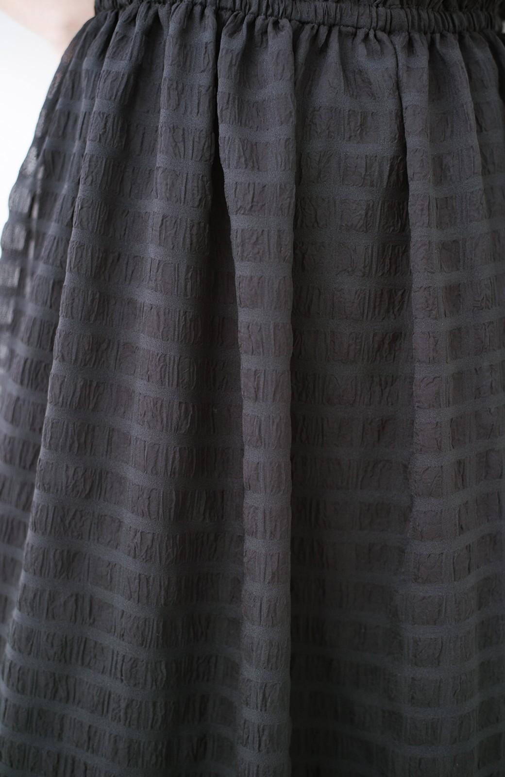 haco! 結婚式にもおでかけにも ルンとした気分になれるチェックワンピース <ブラック>の商品写真8