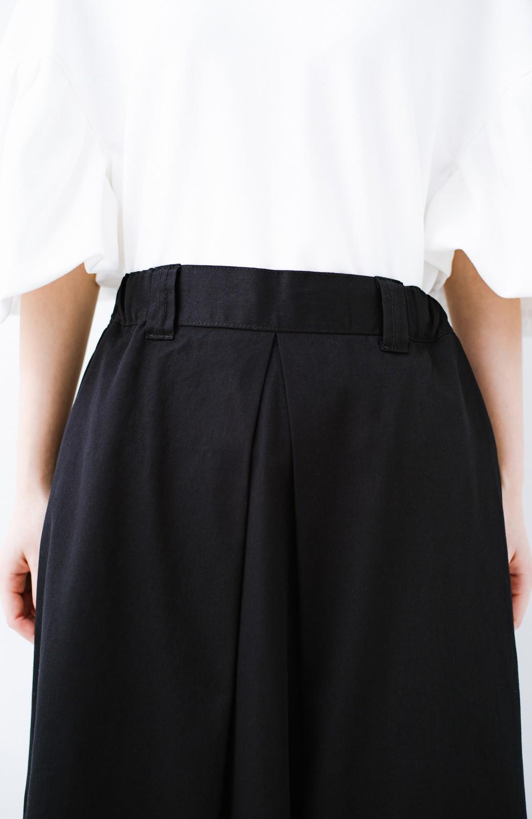haco! ロングシーズン楽しめる タックボリュームのチノロングスカート <ブラック>の商品写真8
