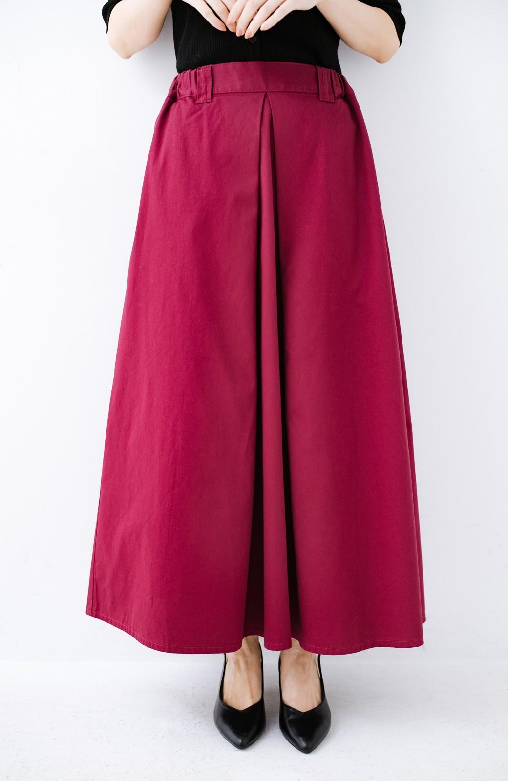 haco! ロングシーズン楽しめる タックボリュームのチノロングスカート <パープル>の商品写真3