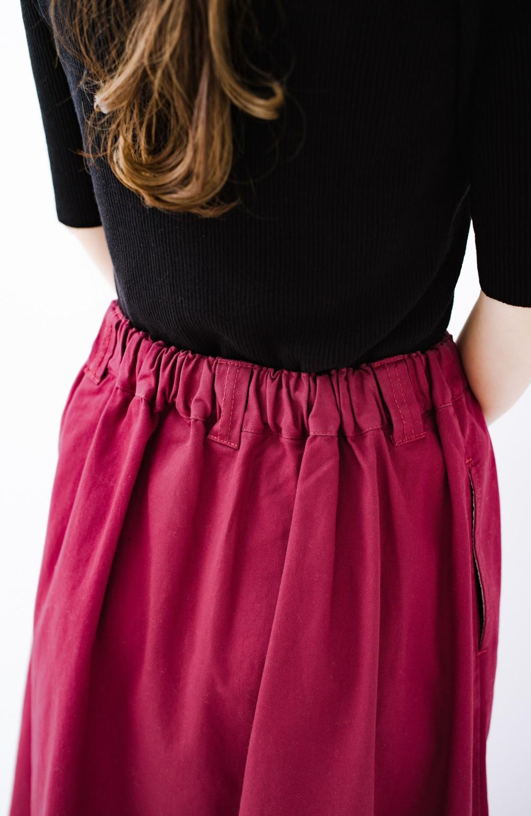 haco! ロングシーズン楽しめる タックボリュームのチノロングスカート <パープル>の商品写真8