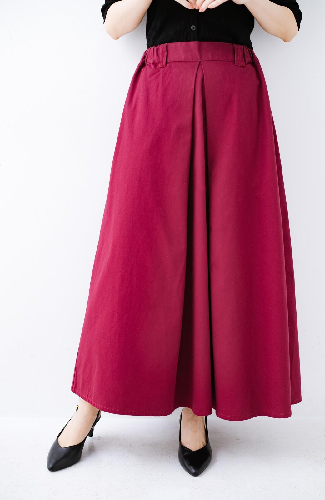 haco! ロングシーズン楽しめる タックボリュームのチノロングスカート <パープル>の商品写真1