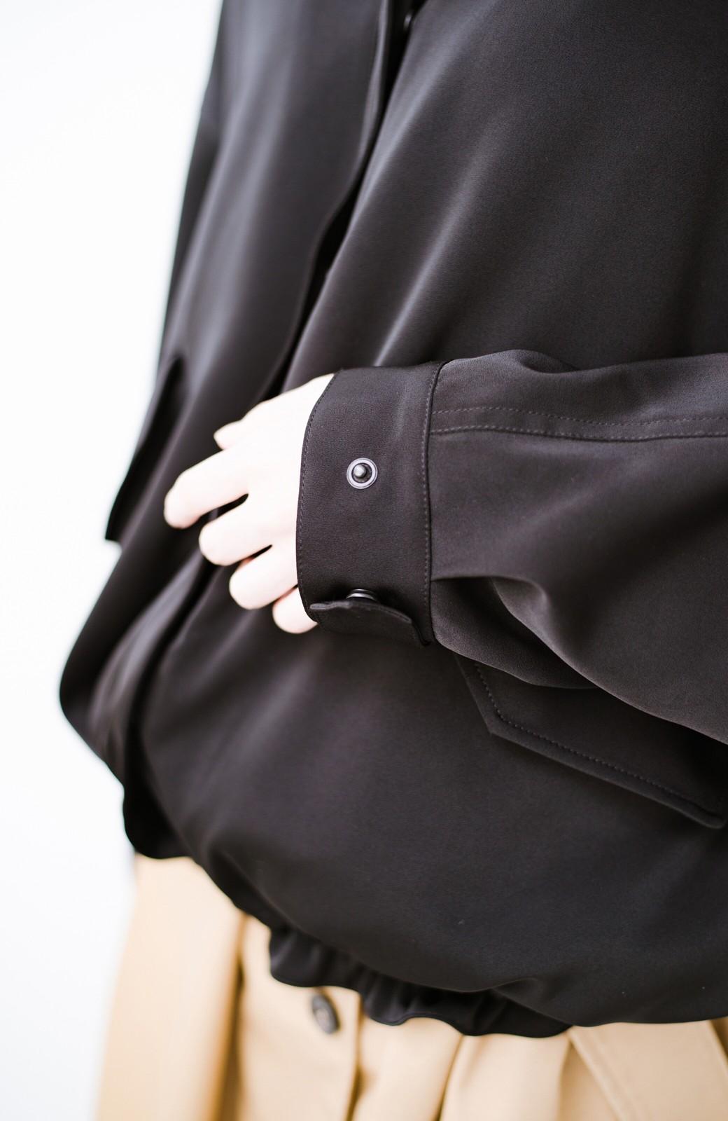 haco! 気軽に羽織ってかっこよくキマるオトナっぽブルゾンbyMAKORI <ブラック>の商品写真5