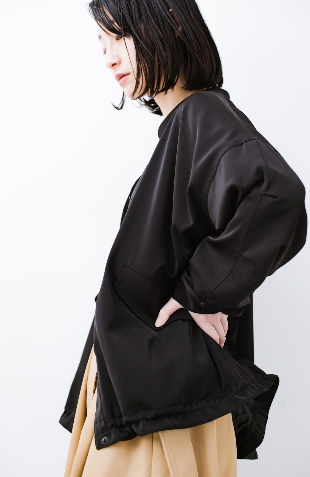 haco! 気軽に羽織ってかっこよくキマるオトナっぽブルゾンbyMAKORI <ブラック>の商品写真6