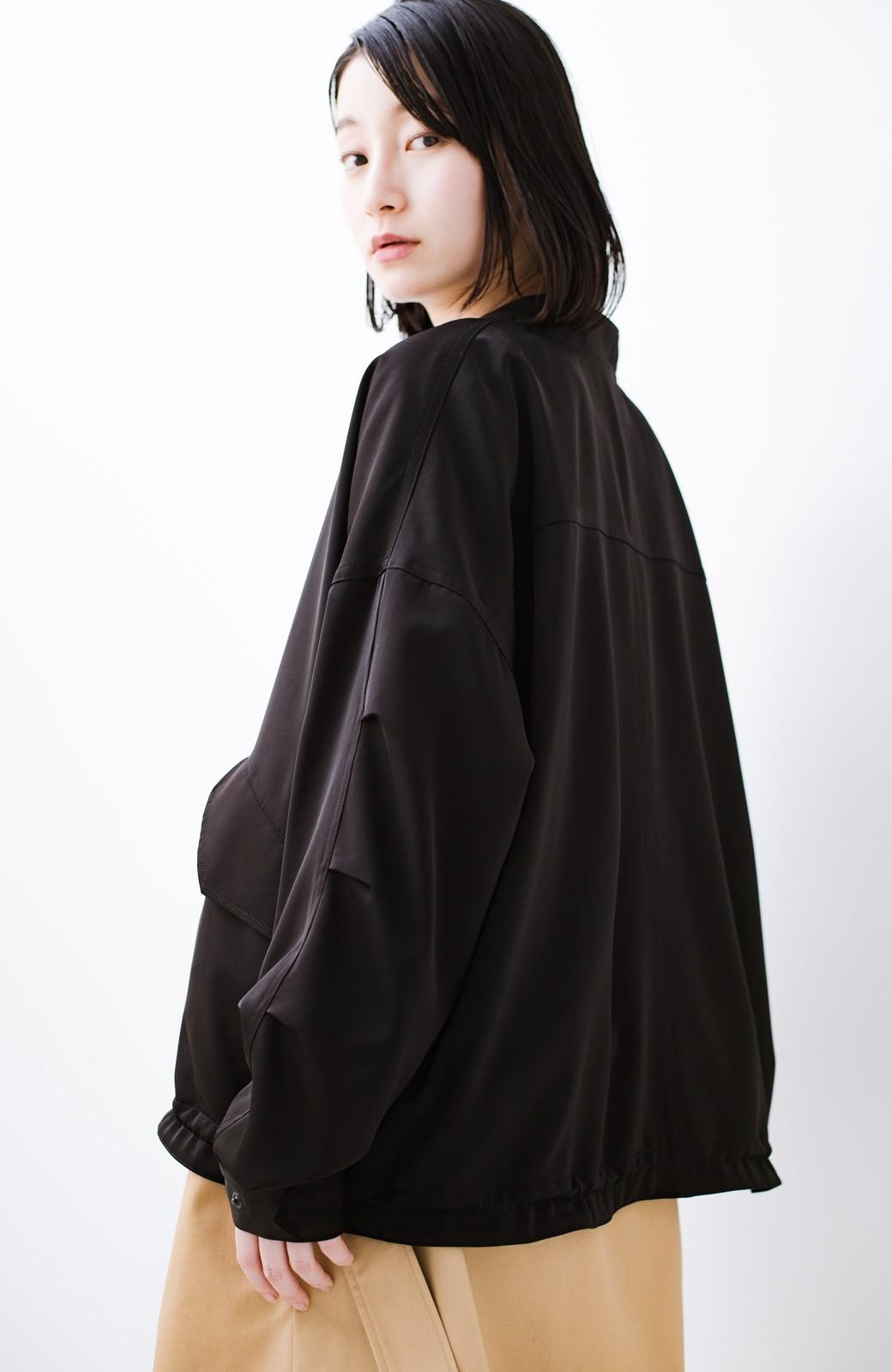 haco! 気軽に羽織ってかっこよくキマるオトナっぽブルゾンbyMAKORI <ブラック>の商品写真21