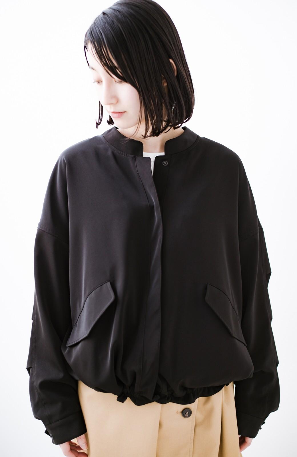 haco! 気軽に羽織ってかっこよくキマるオトナっぽブルゾンbyMAKORI <ブラック>の商品写真23