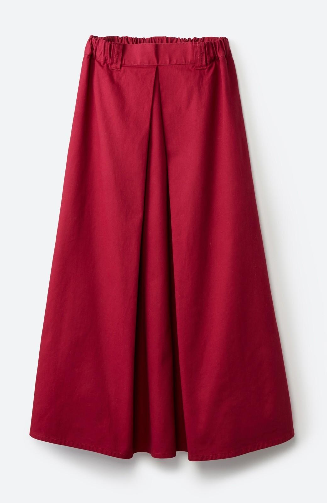 haco! ロングシーズン楽しめる タックボリュームのチノロングスカート <パープル>の商品写真2