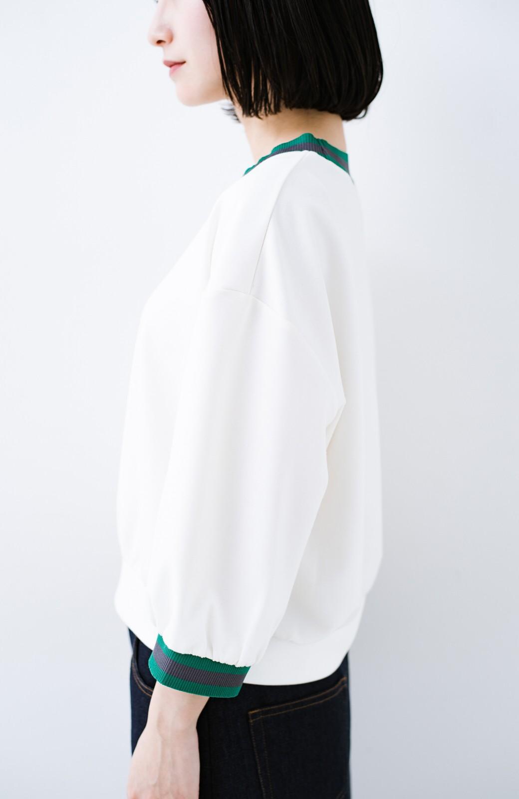 haco! 子どもっぽくならない 大人女子のための配色スウェット <ホワイト>の商品写真3