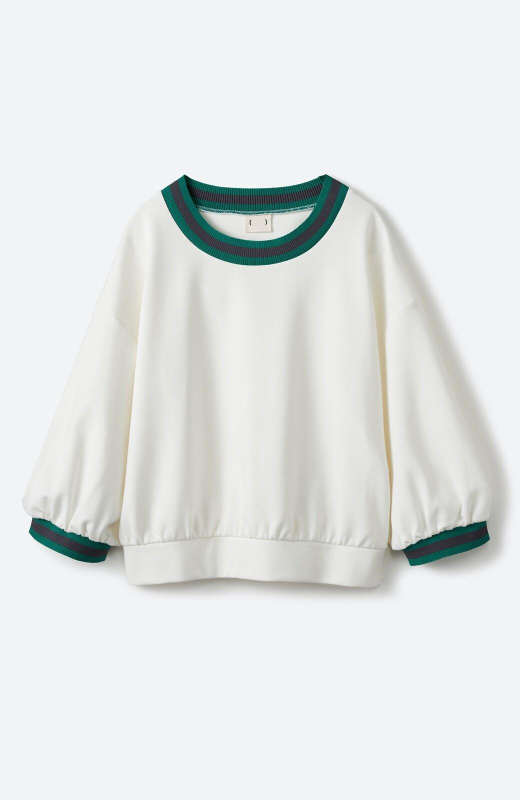 haco! 子どもっぽくならない 大人女子のための配色スウェット <ホワイト>の商品写真1
