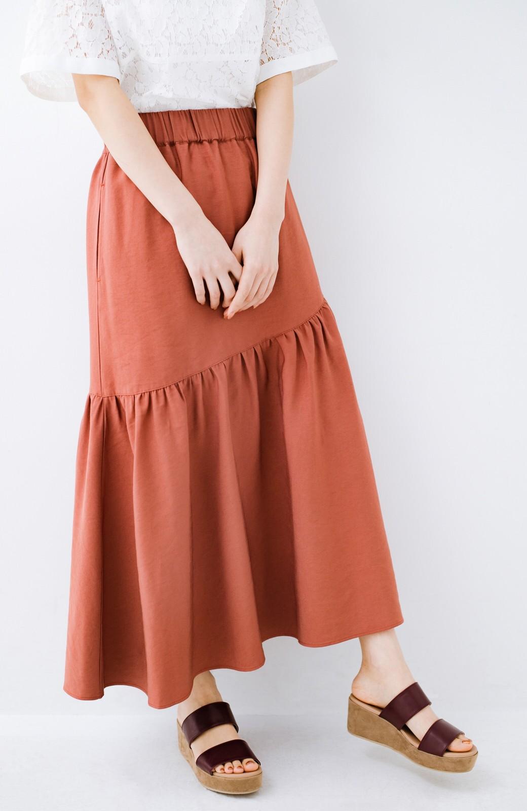 haco! ふんわりシルエットが華やかな大人ギャザースカート <スモークピンク>の商品写真13