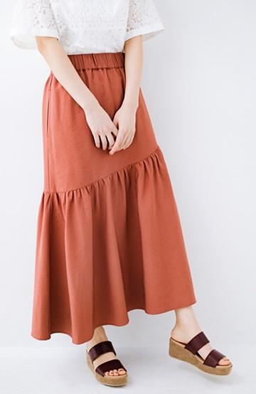 haco! ふんわりシルエットが華やかな大人ギャザースカート <スモークピンク>の商品写真