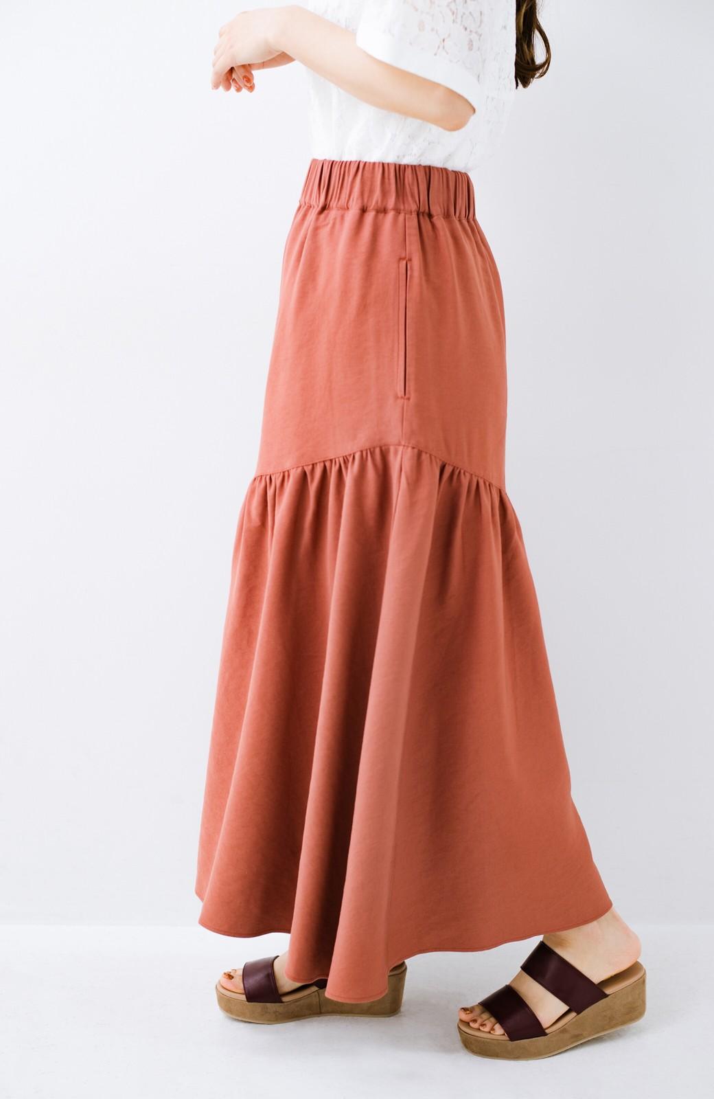 haco! ふんわりシルエットが華やかな大人ギャザースカート <スモークピンク>の商品写真5