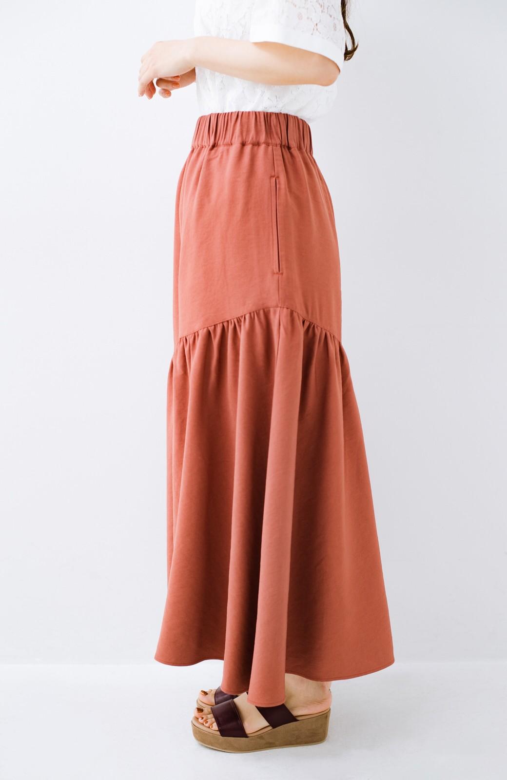 haco! ふんわりシルエットが華やかな大人ギャザースカート <スモークピンク>の商品写真8