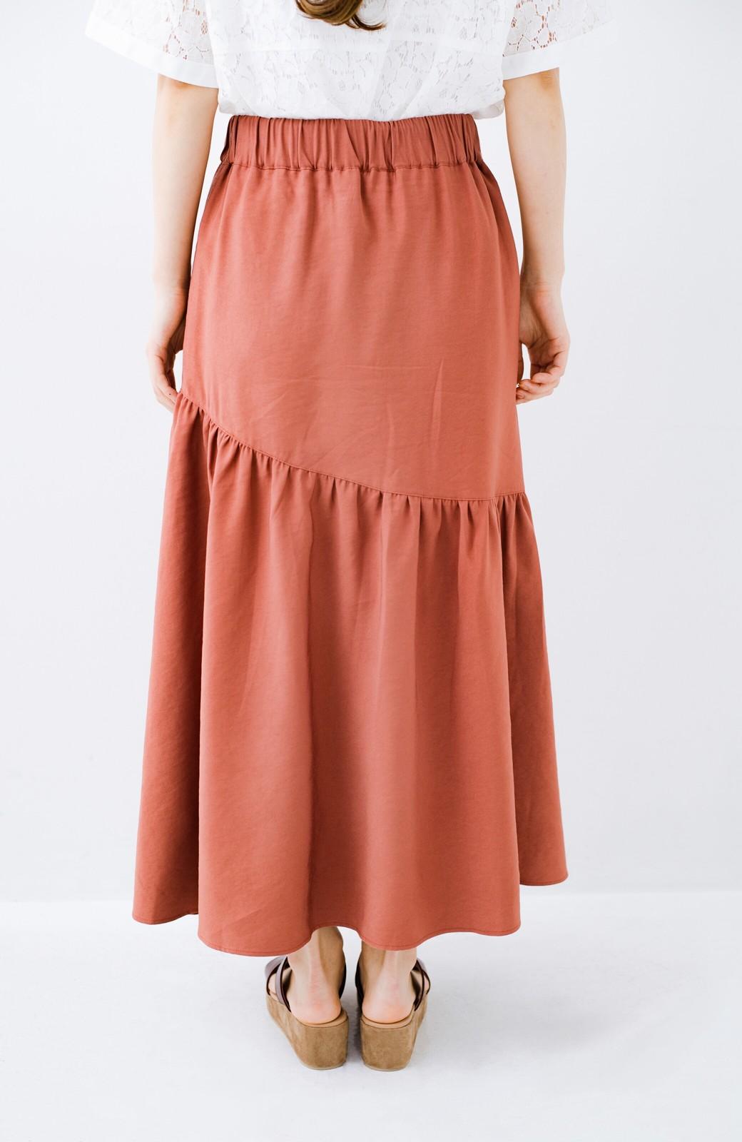 haco! ふんわりシルエットが華やかな大人ギャザースカート <スモークピンク>の商品写真9