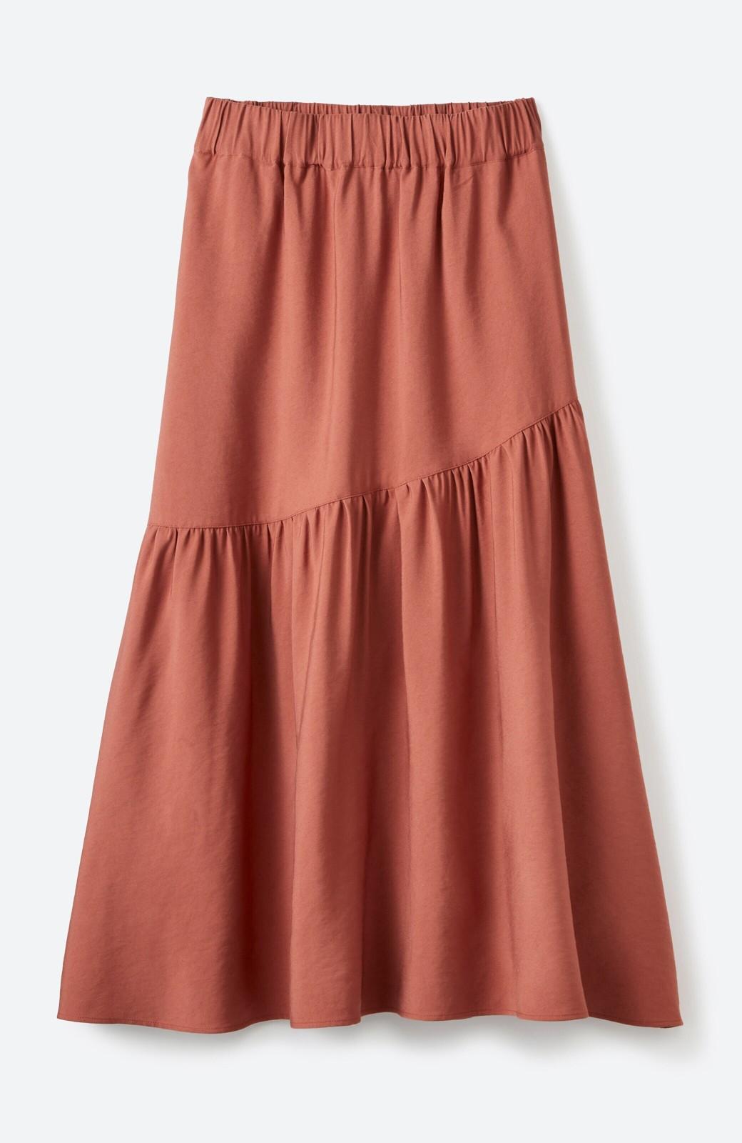 haco! ふんわりシルエットが華やかな大人ギャザースカート <スモークピンク>の商品写真2
