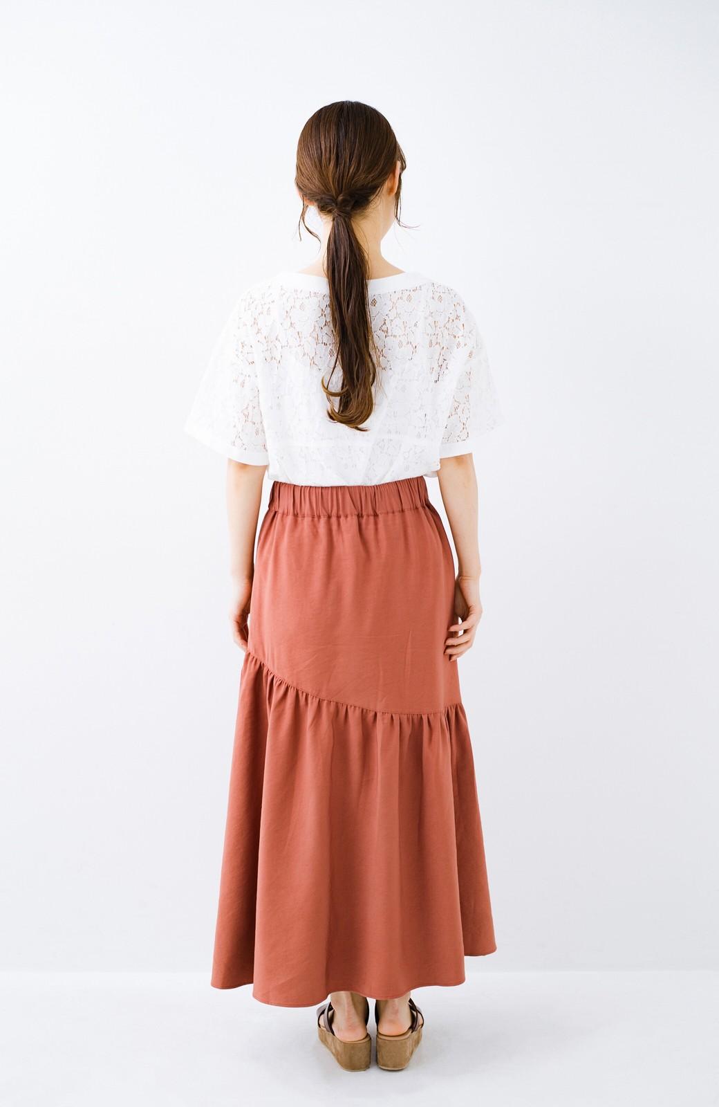 haco! ふんわりシルエットが華やかな大人ギャザースカート <スモークピンク>の商品写真15