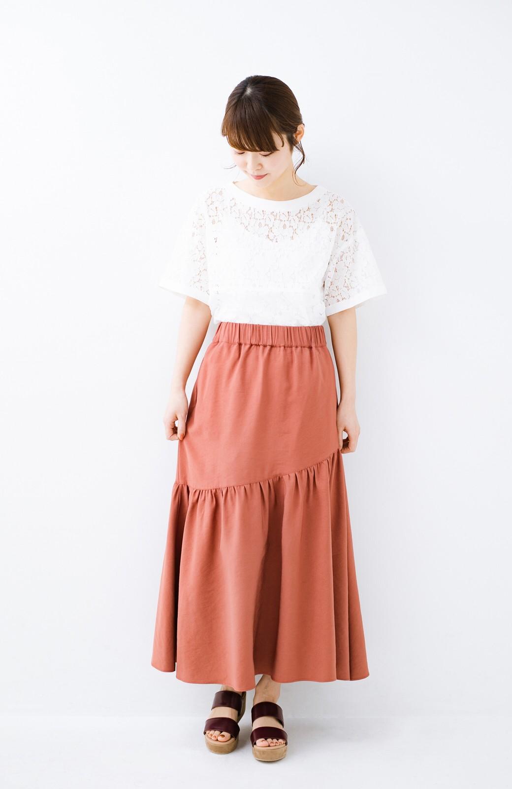 haco! ふんわりシルエットが華やかな大人ギャザースカート <スモークピンク>の商品写真4