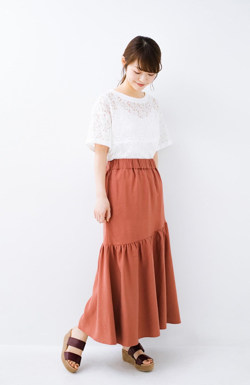 haco! ふんわりシルエットが華やかな大人ギャザースカート <スモークピンク>の商品写真1