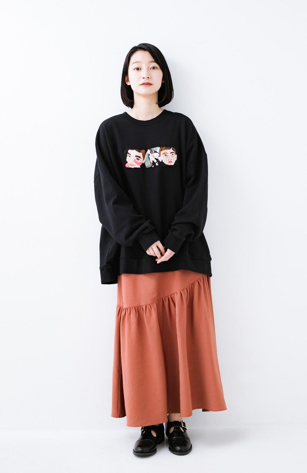 haco! ふんわりシルエットが華やかな大人ギャザースカート <スモークピンク>の商品写真16