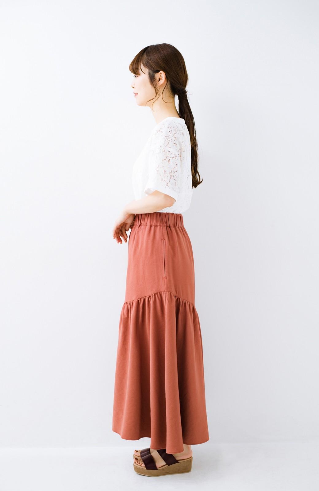 haco! ふんわりシルエットが華やかな大人ギャザースカート <スモークピンク>の商品写真14
