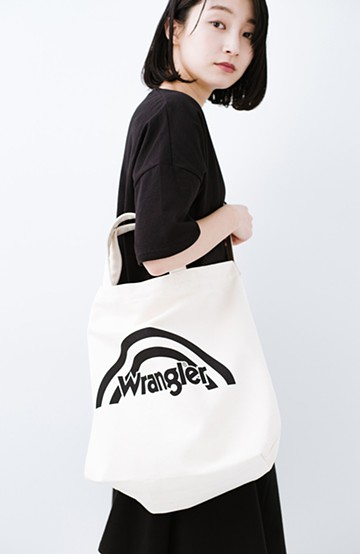 haco! Wrangler キャンパスブランドロゴトート <オフホワイト>の商品写真