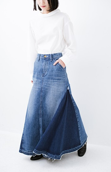haco! LadyLee パネルペインタースカート <インディゴブルー>の商品写真