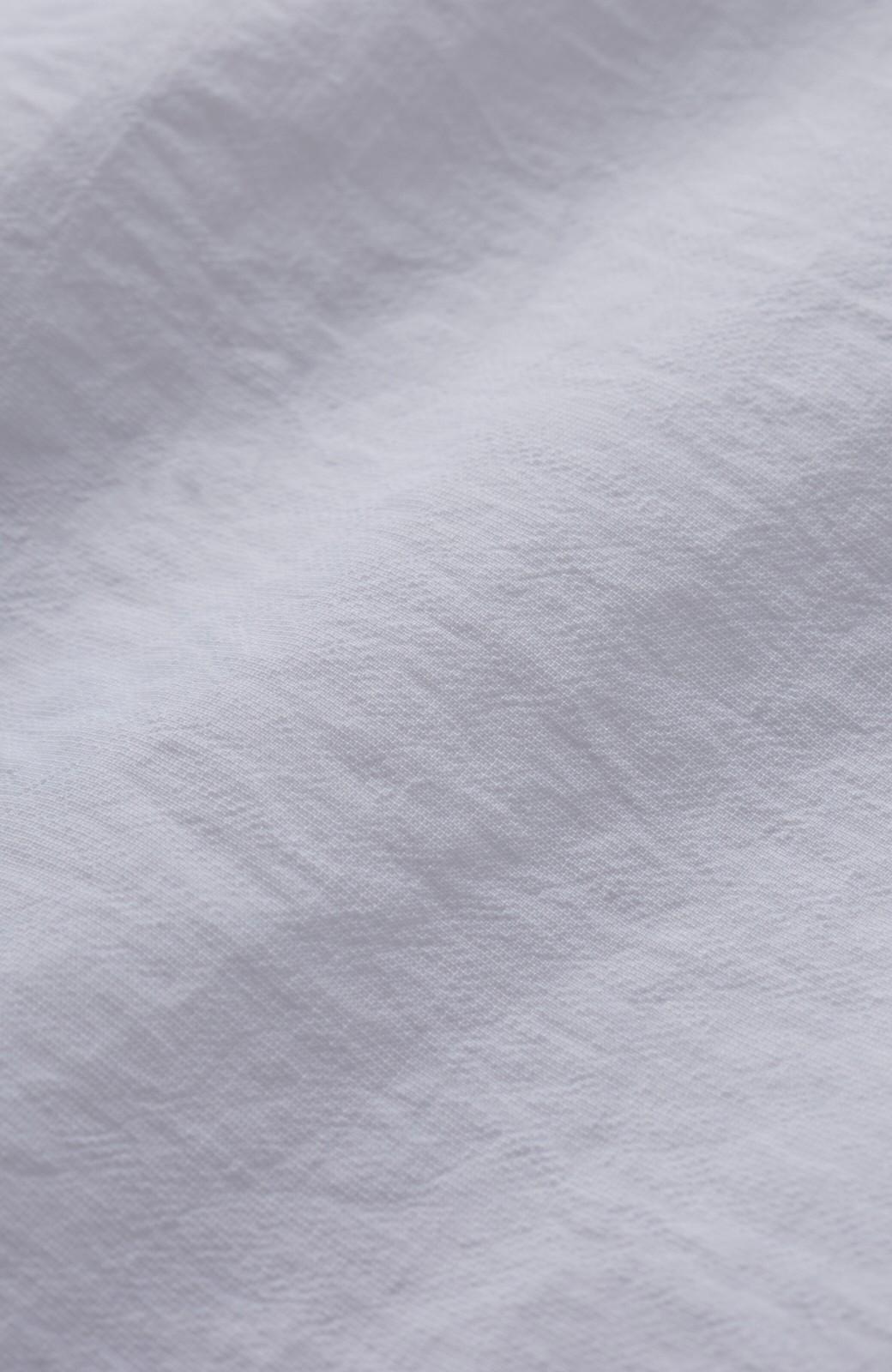 haco! 【洗濯機洗いOK】じゃぶじゃぶ洗える便利なフリルスリーブブラウス <ホワイト>の商品写真4