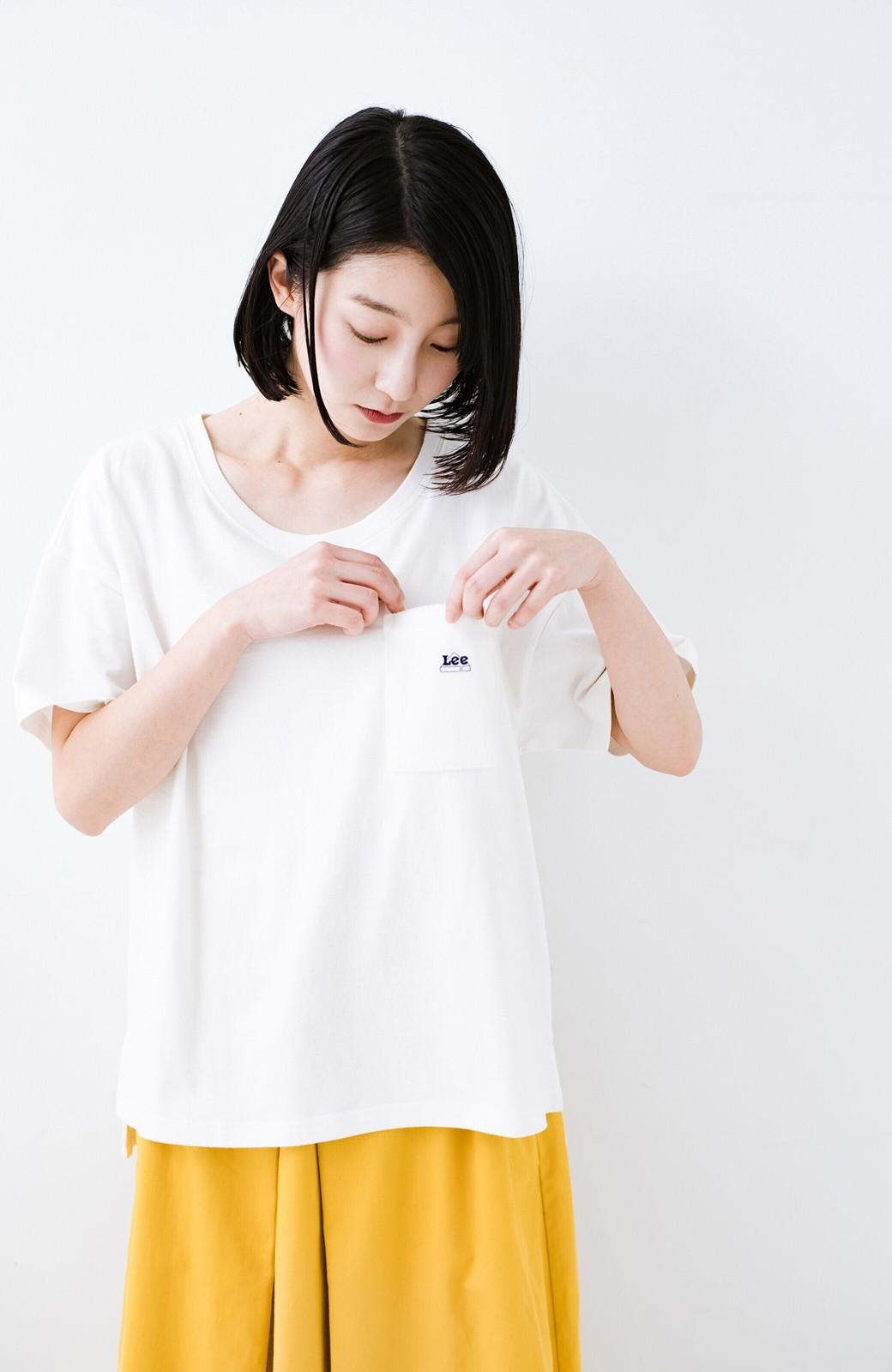 haco! 別注Lee パイルポケットTシャツ <ホワイト>の商品写真1