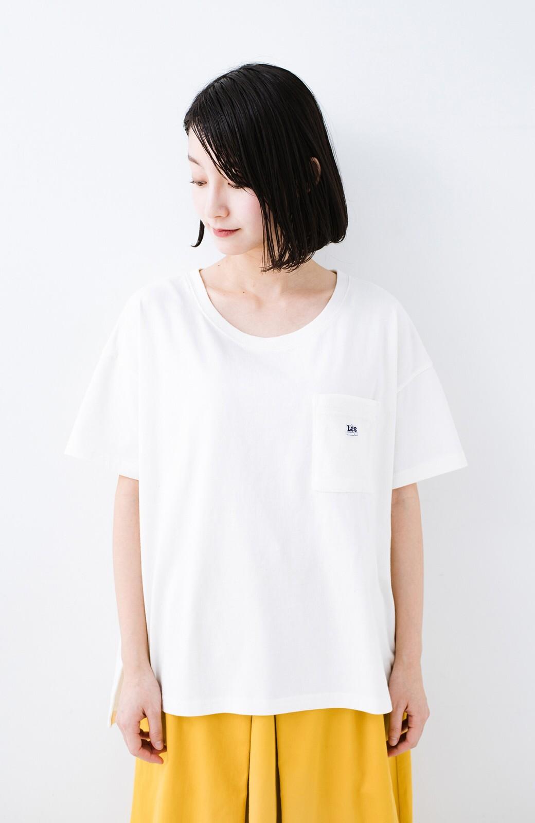 haco! 別注Lee パイルポケットTシャツ <ホワイト>の商品写真3