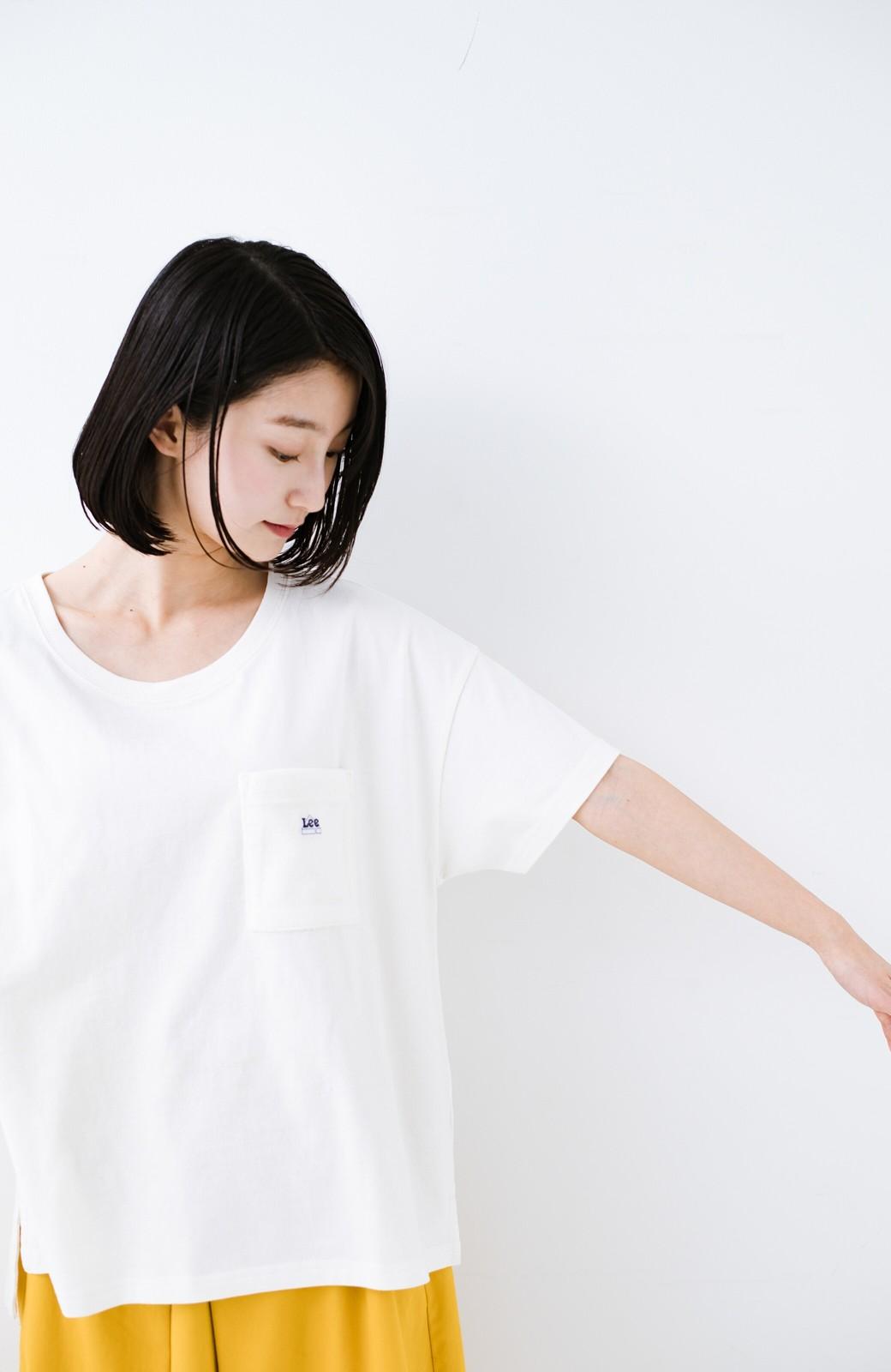 haco! 別注Lee パイルポケットTシャツ <ホワイト>の商品写真4