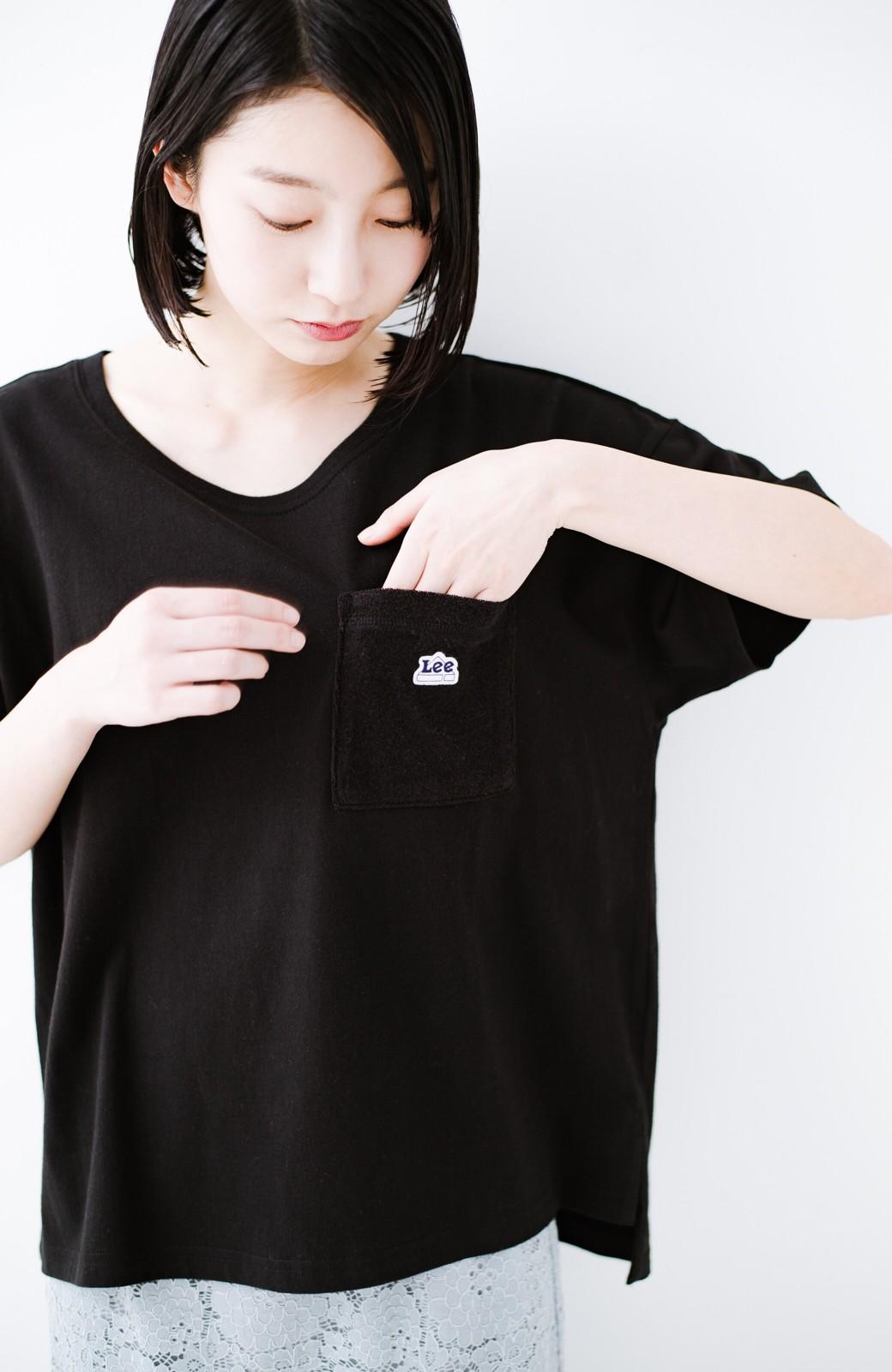 haco! 別注Lee パイルポケットTシャツ <ブラック>の商品写真4