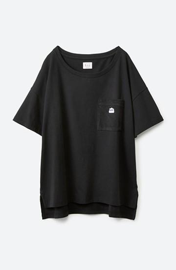haco! 別注Lee パイルポケットTシャツ <ブラック>の商品写真