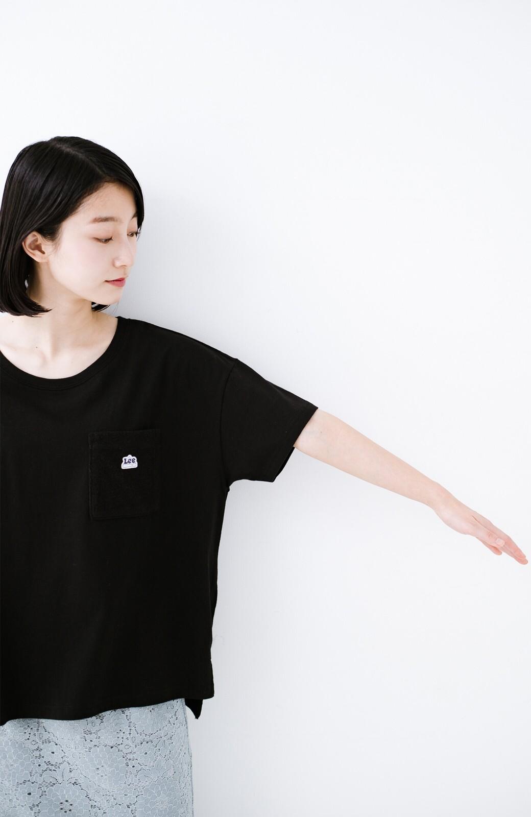 haco! 別注Lee パイルポケットTシャツ <ブラック>の商品写真10