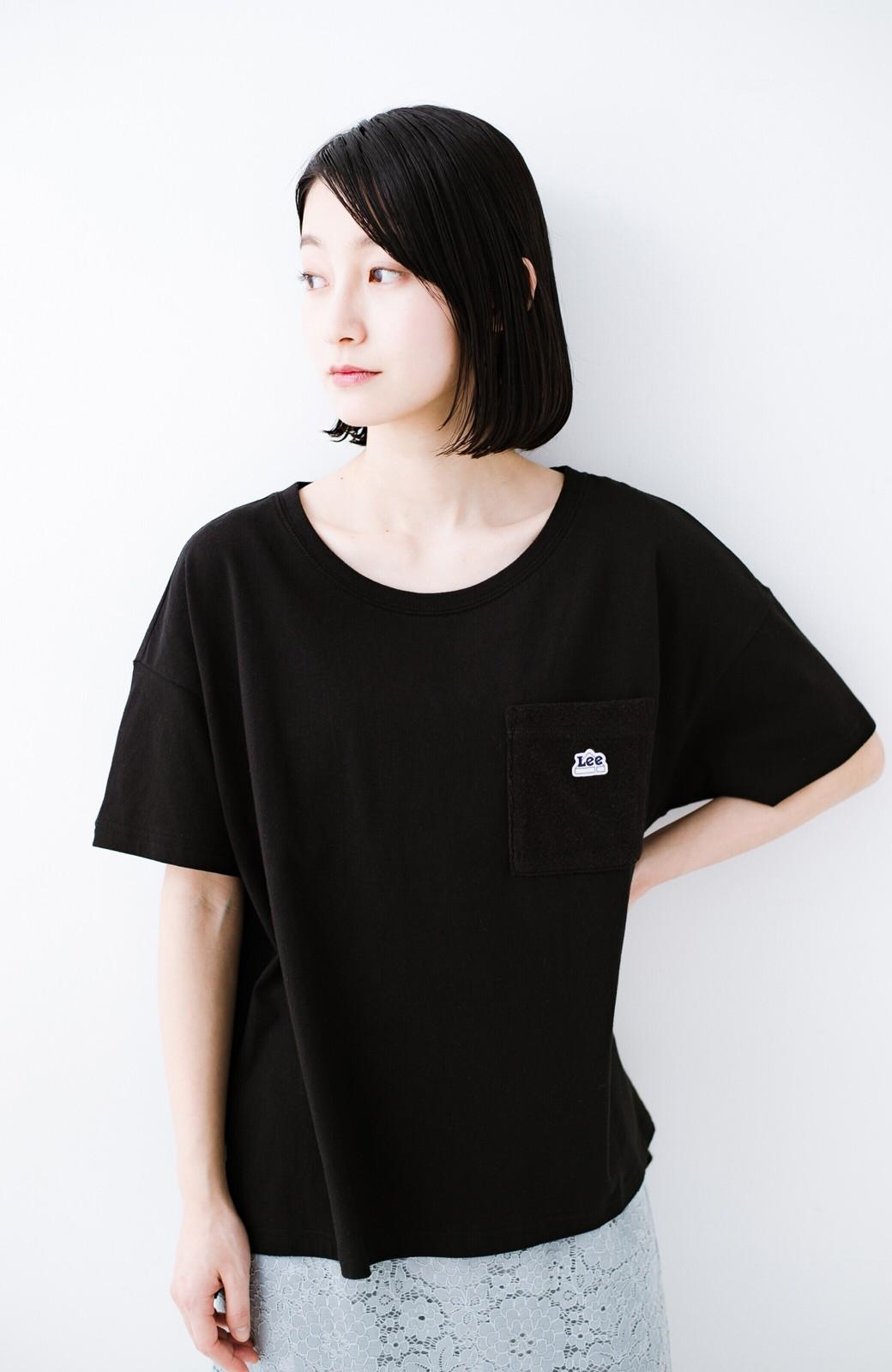 haco! 別注Lee パイルポケットTシャツ <ブラック>の商品写真5