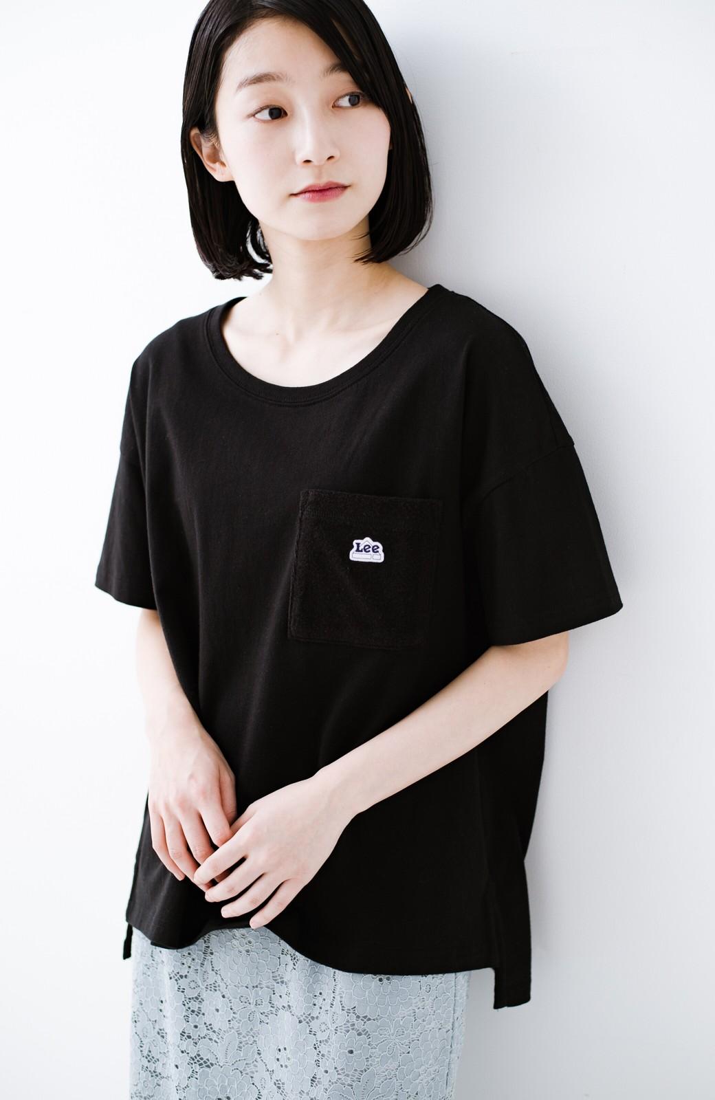haco! 別注Lee パイルポケットTシャツ <ブラック>の商品写真1