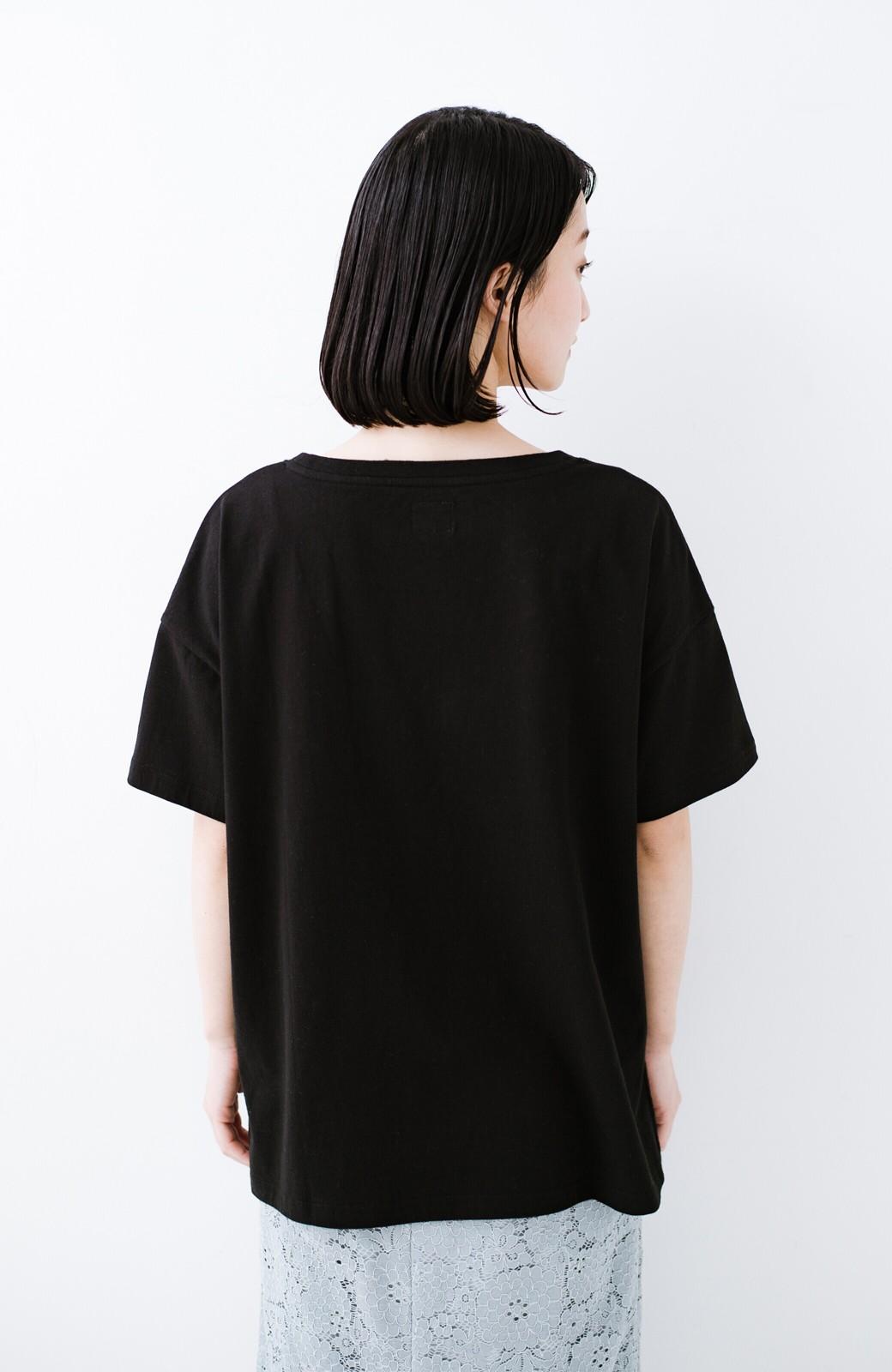 haco! 別注Lee パイルポケットTシャツ <ブラック>の商品写真12